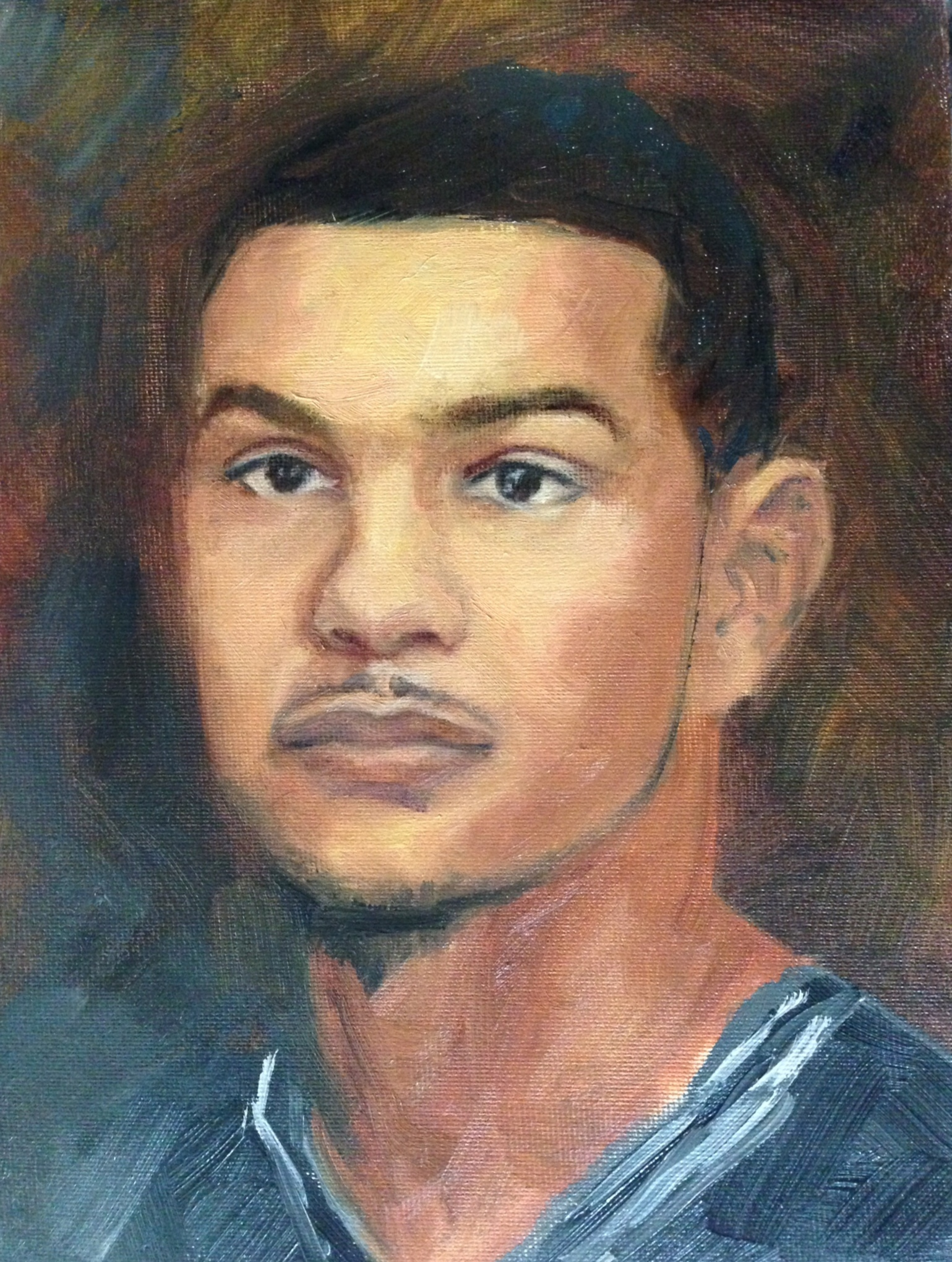 Cory Joseph - oil on canvas
