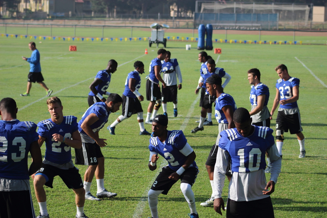 The defensive backs are ready for action!