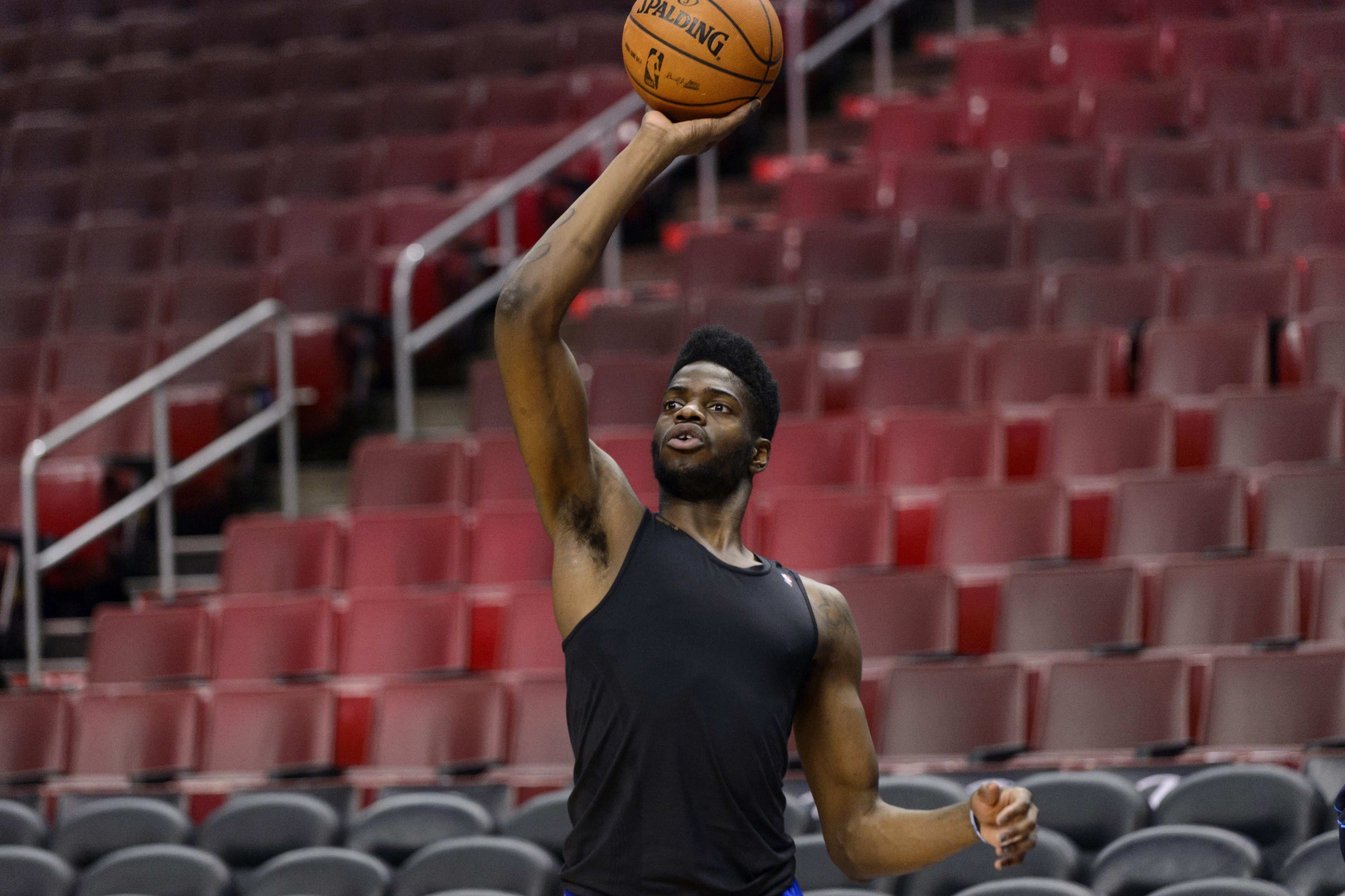 Nerlens did a lot of work on his shooting form before games last season.