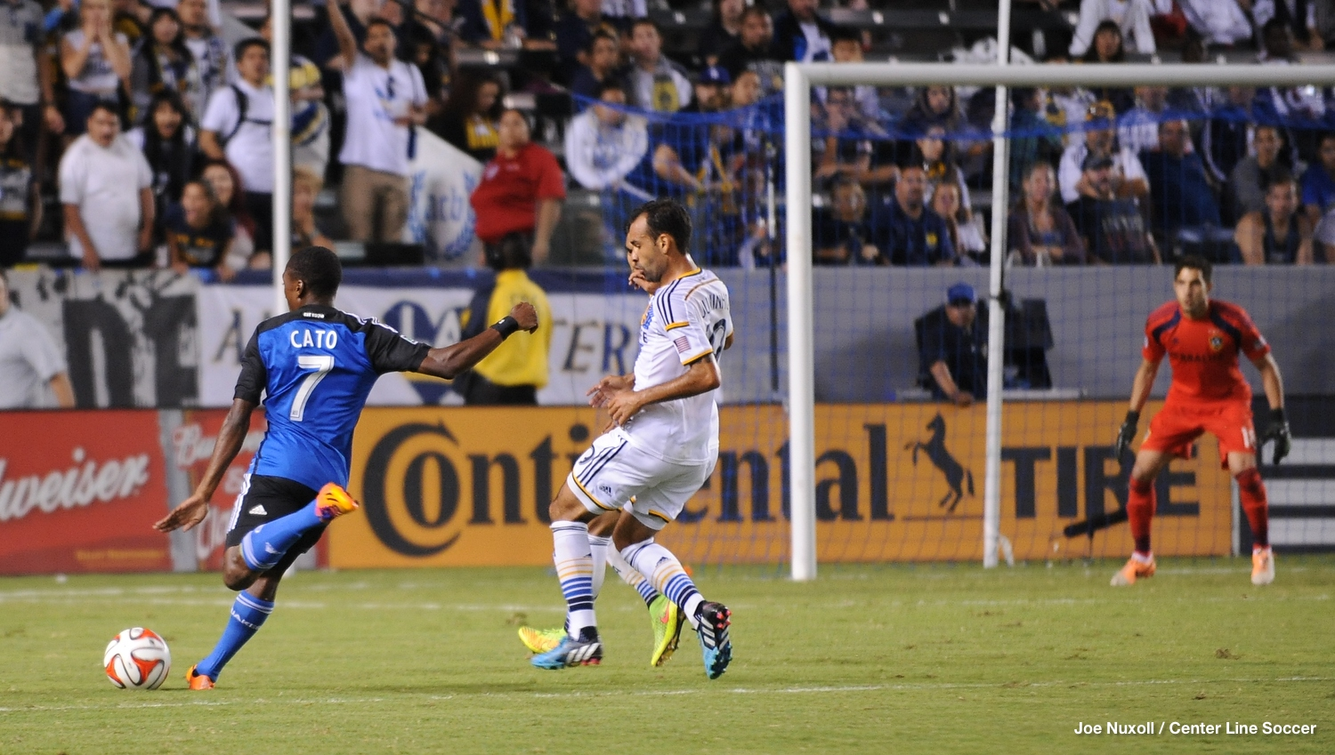 Cato's was the only San Jose shot on goal not to hit the back of the net.