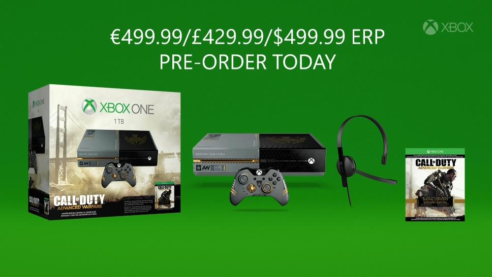 Call of Duty: Advanced Warfare Xbox One bundle hits Nov. 3 for $499.99