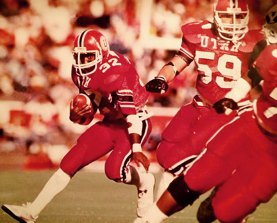 Utah's all-time career rusher, Eddie Johnson, is also father to Utes cornerback Chandler Johnson.