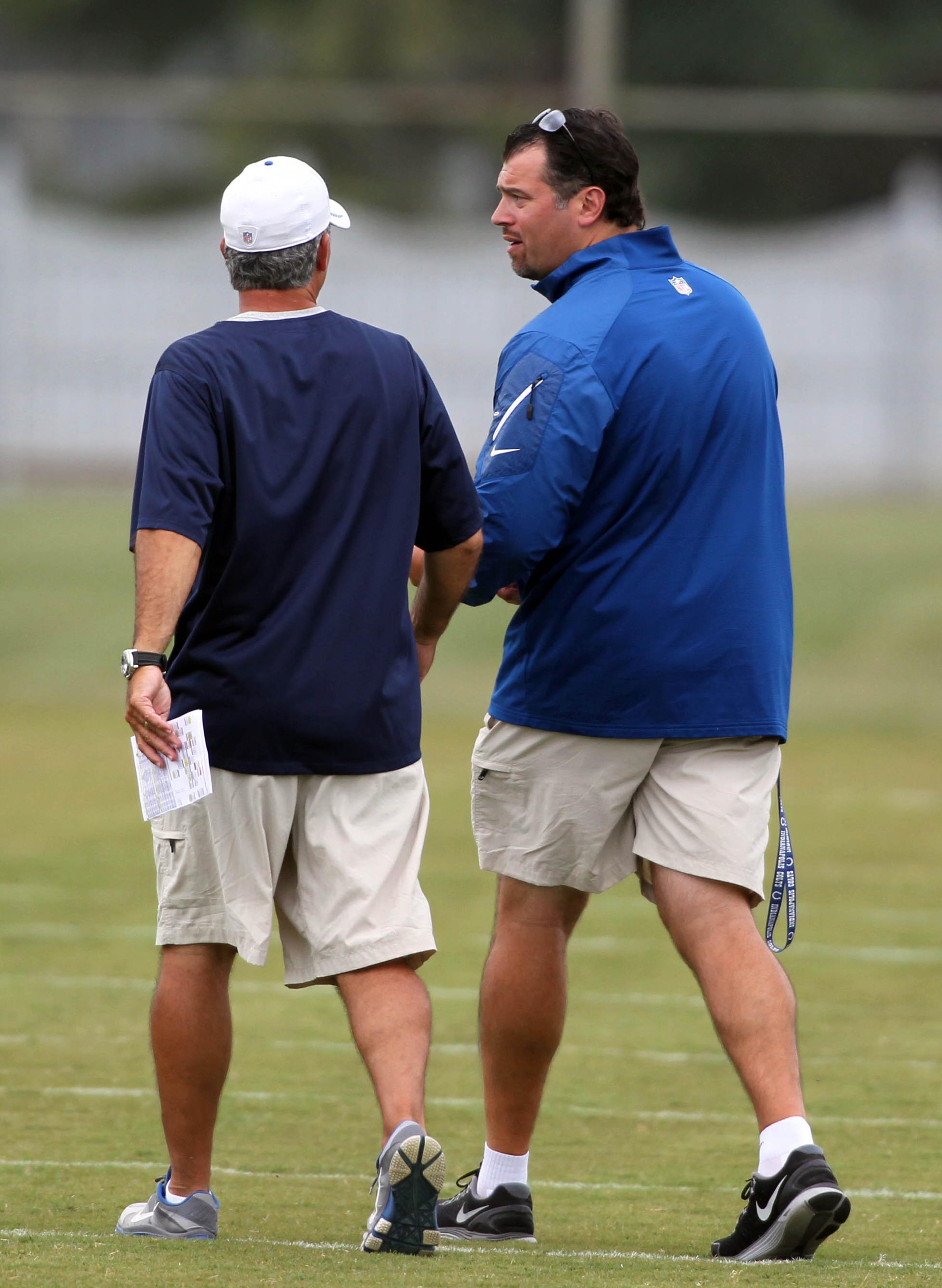 Grigson and Pagano at Training Camp