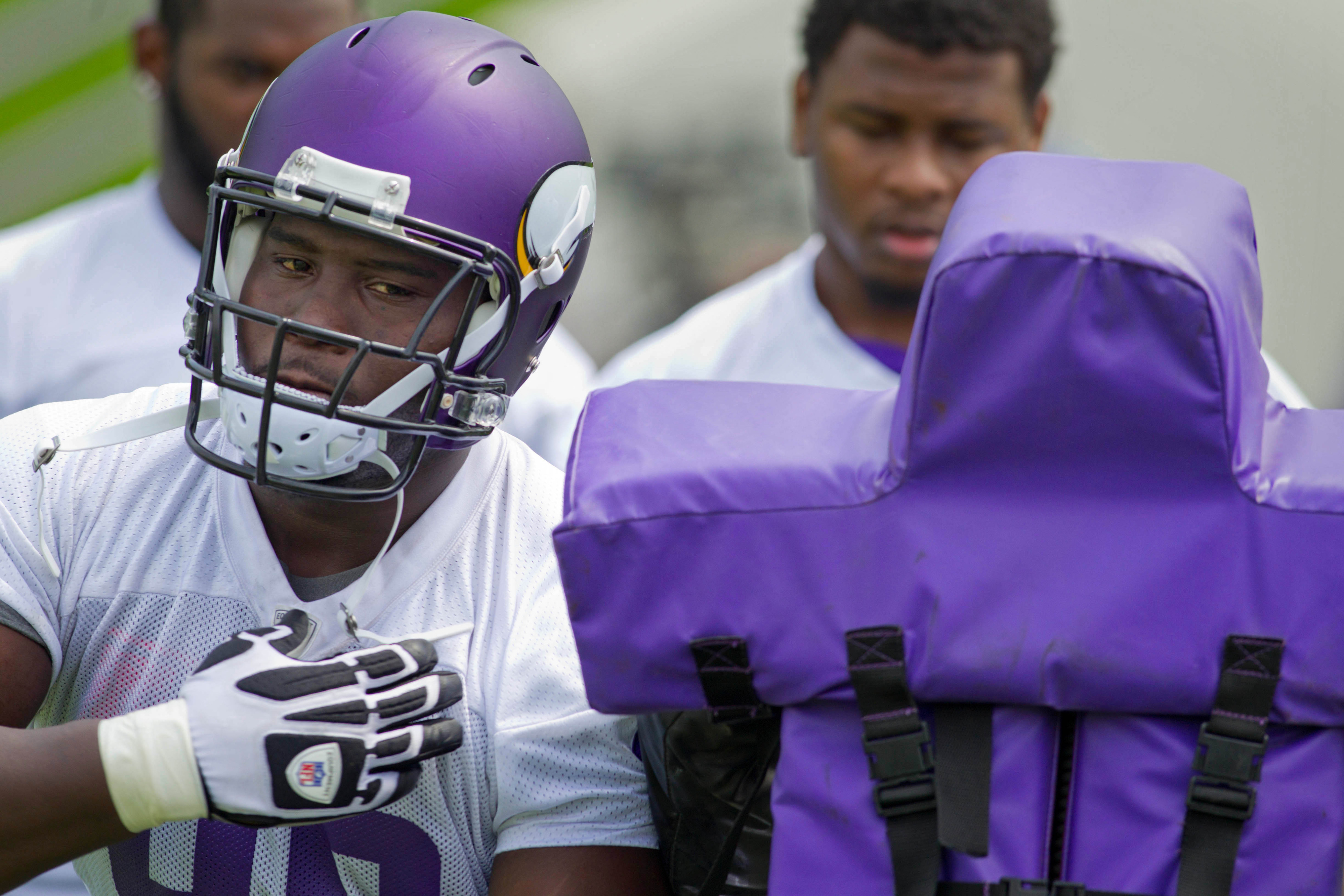 Swap that purple for green and you have an idea of what today looked like for Letroy Guion.