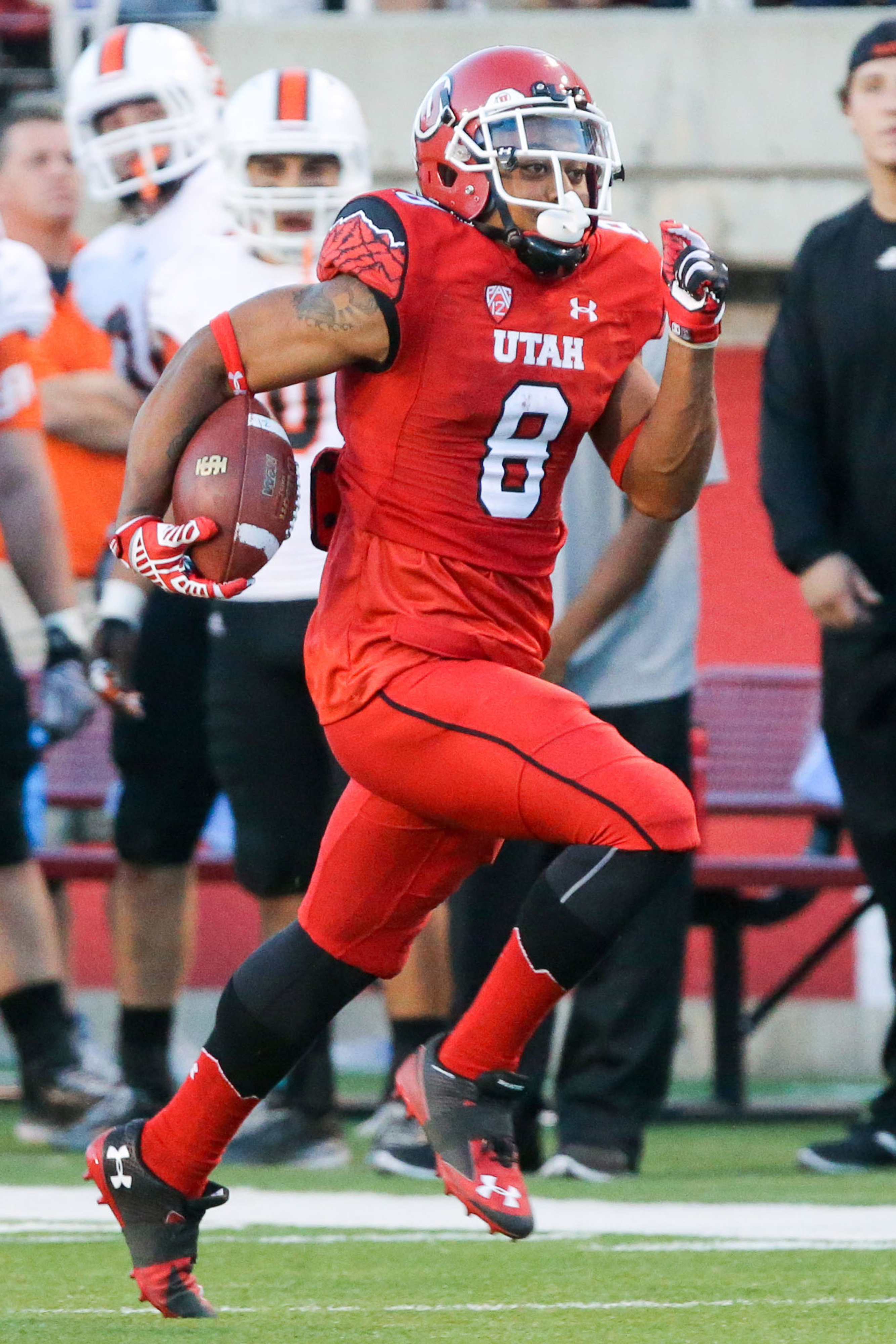 Kaelin Clay had a memorial debut as a Ute, with both a punt and kick return for a touchdown.