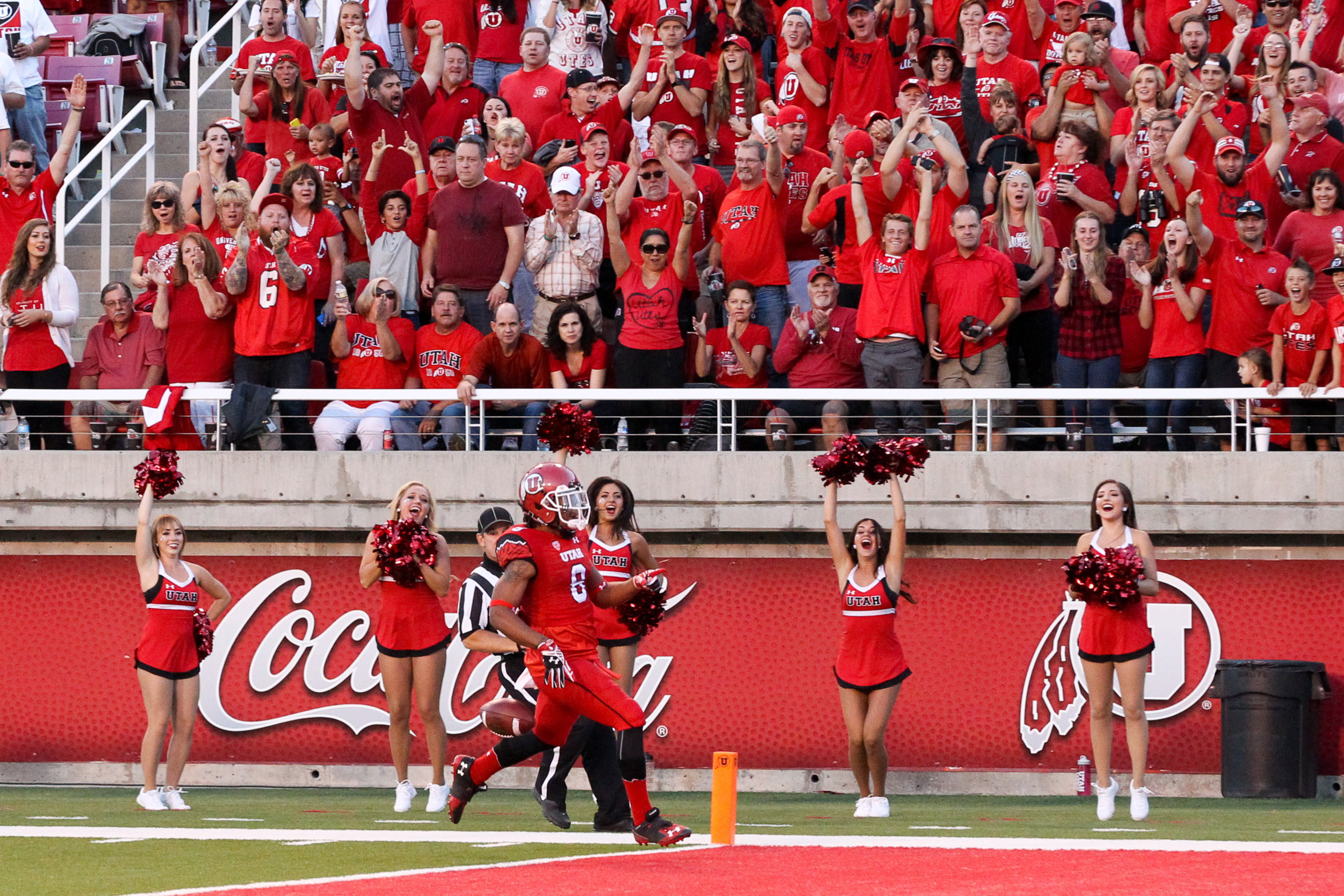 Utah kick returner Kaelin Clay was the story of the game for the Utes, returning a punt and a kickoff for touchdowns.