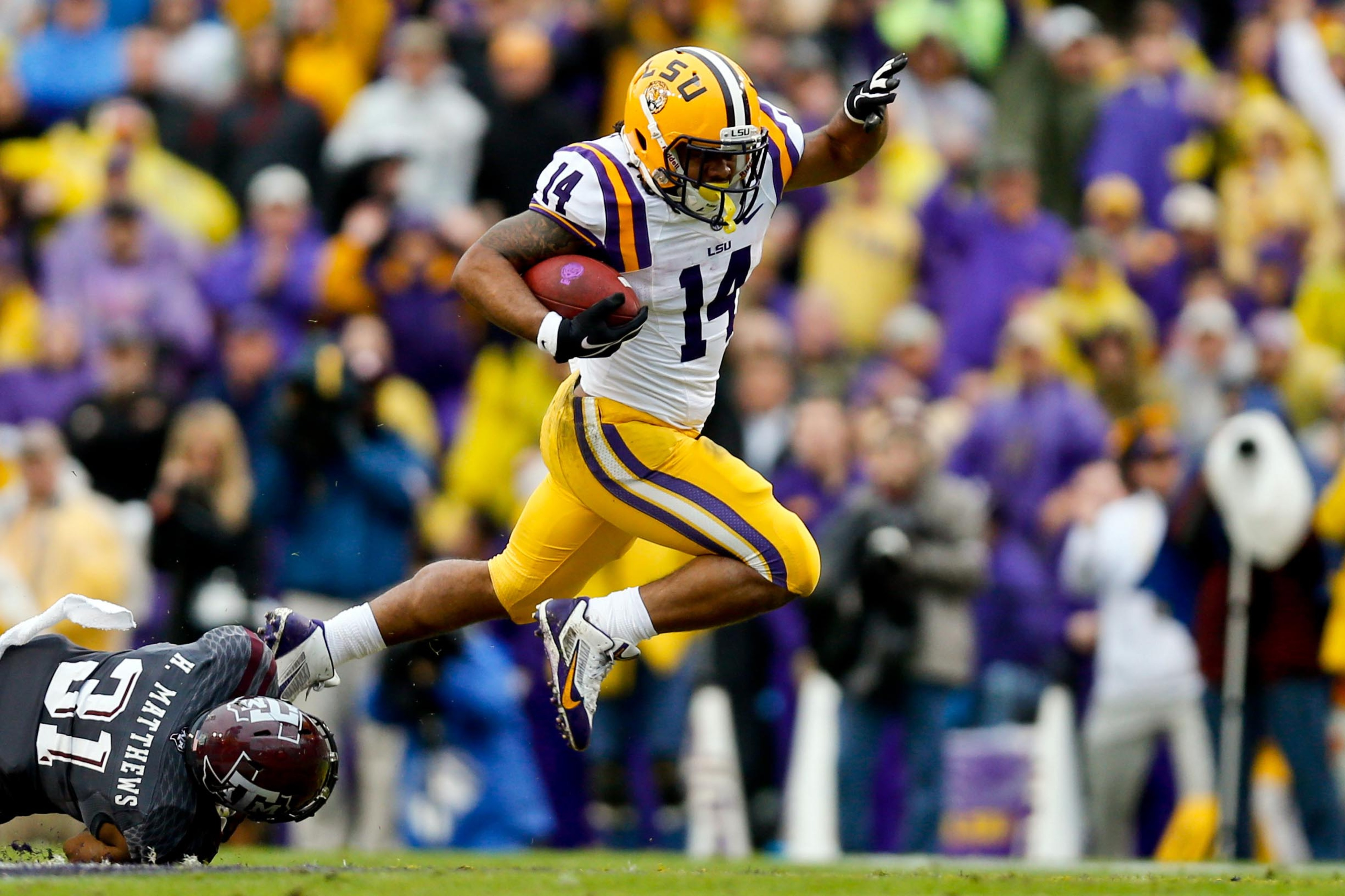 LSU running back Terrence Magee.
