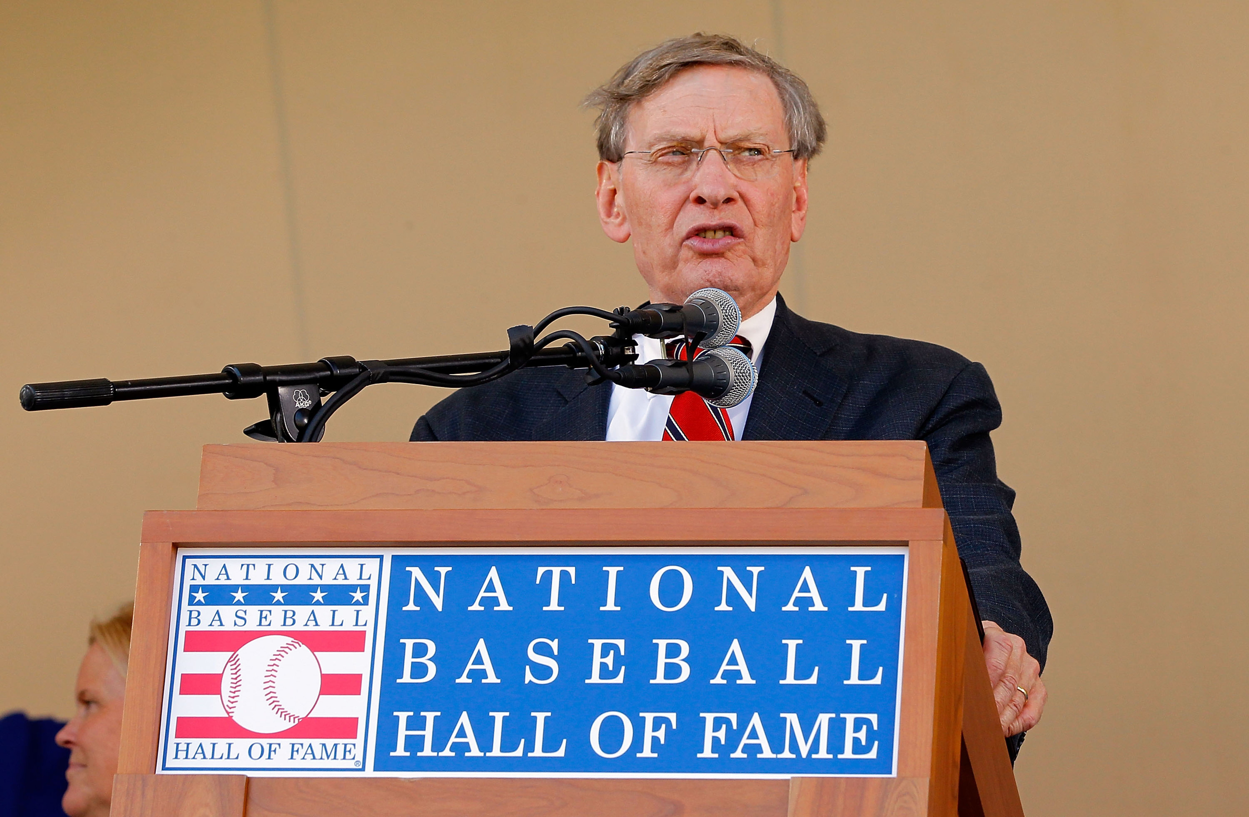 The only man who has ever looked unhappy to be at Cooperstown.