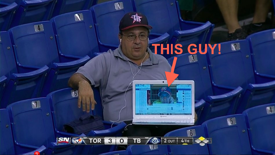 The story behind the fan who attended a Rays game via video chat