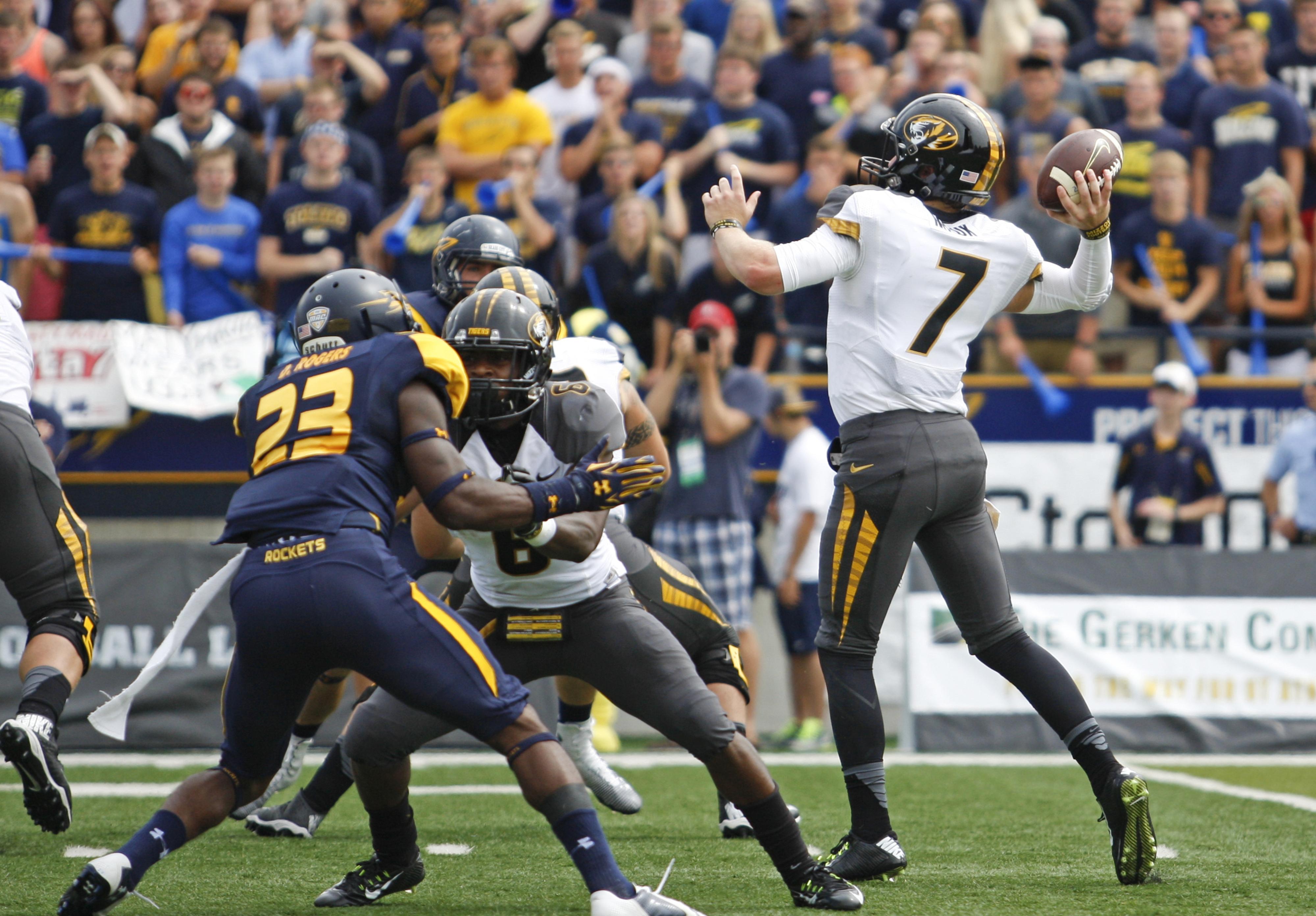 Maty Mauk threw for 5 touchdowns vs Toledo, tying a school record
