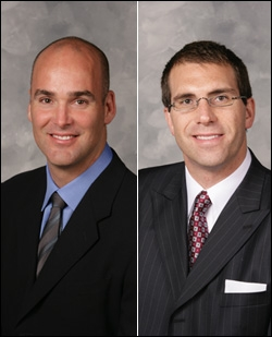 Former Cavaliers GMs Danny Ferry (left) and Chris Grant (right)