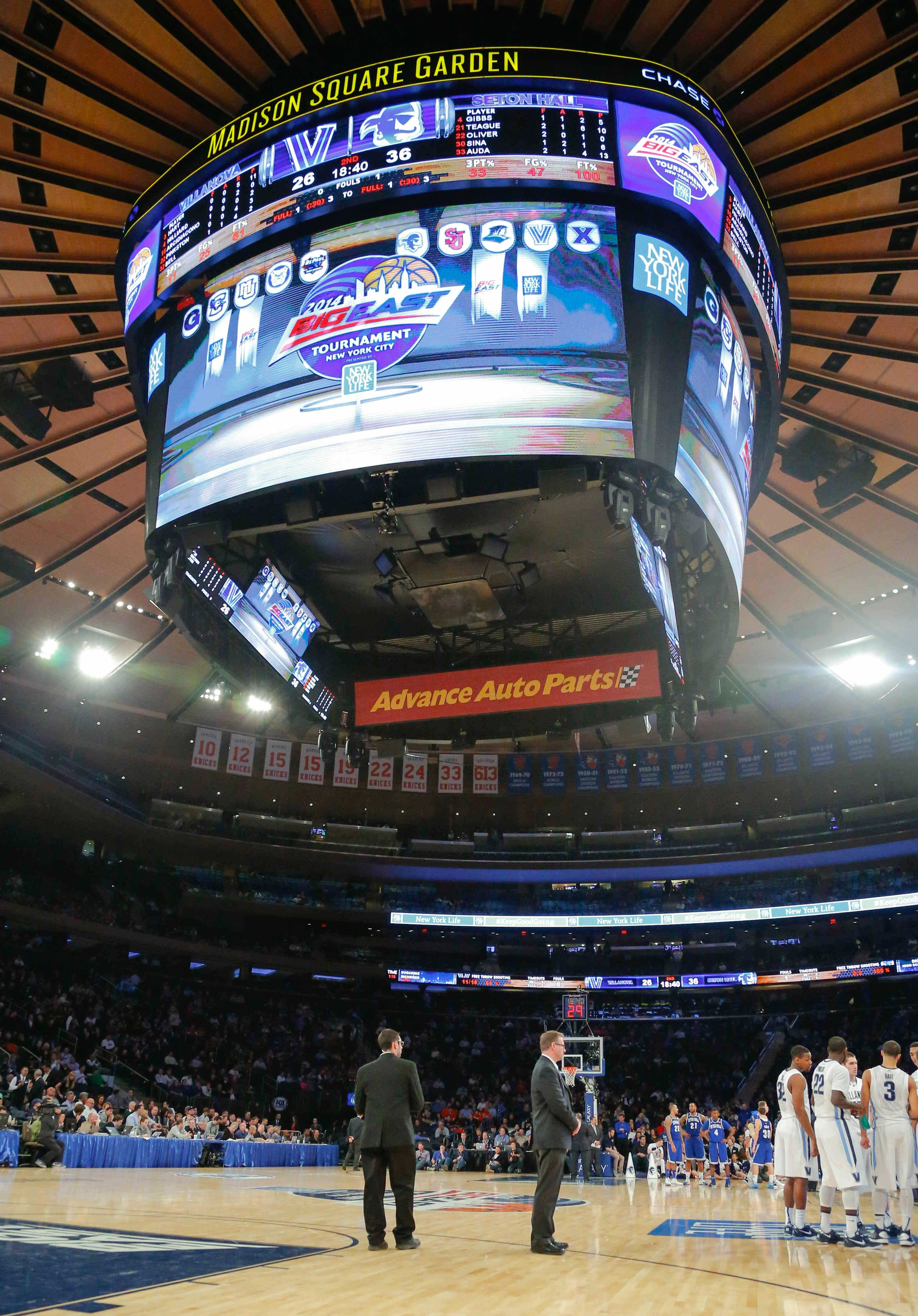 Where will Xavier be positioned when play reaches MSG this year?