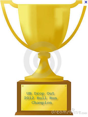 Drop Out display this trophy proudly at your summer home.