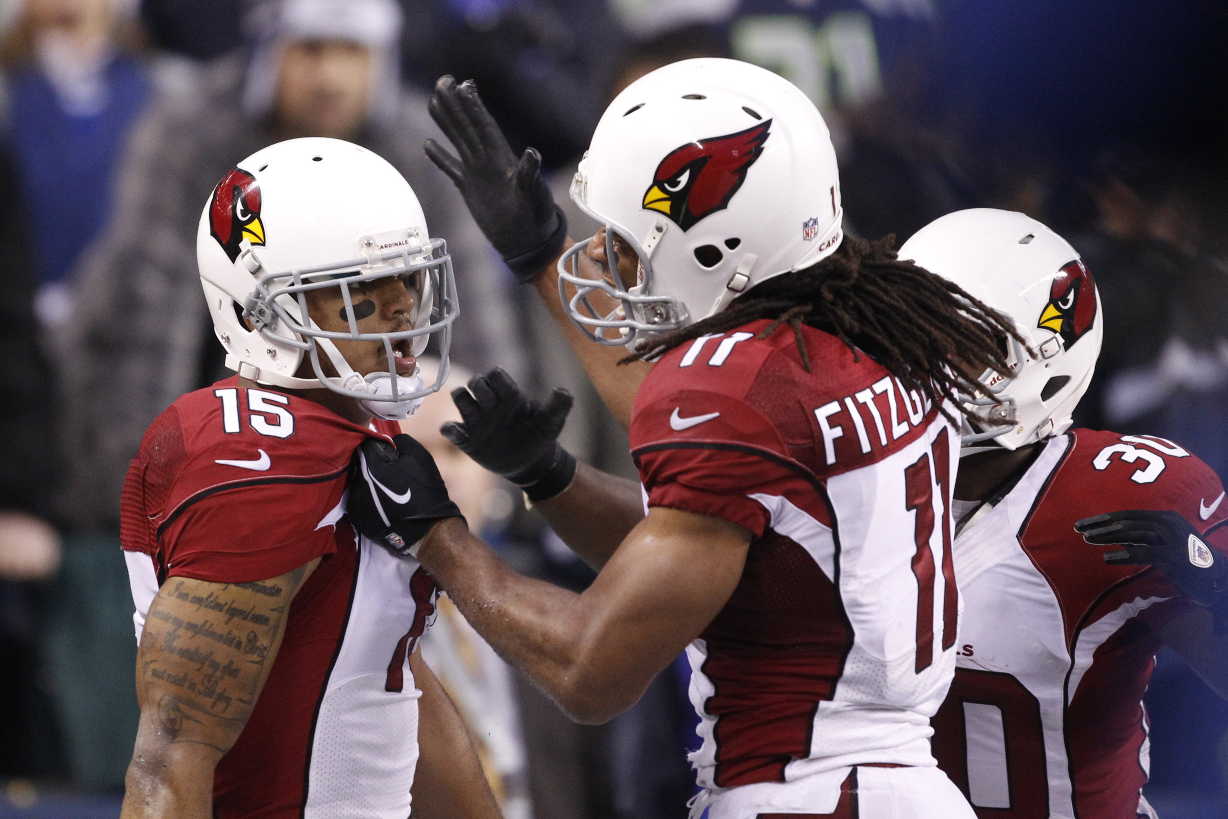 Michael Floyd (left) and Larry Fitzgerald give Arizona a pair of outstanding wide receivers