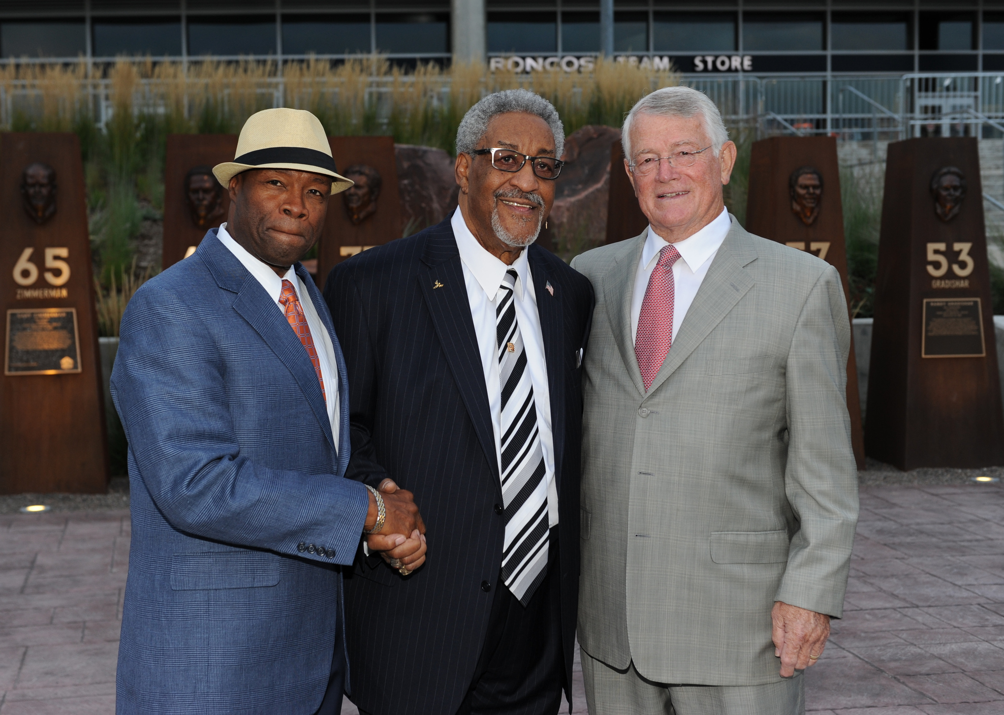 Broncos 2014 Ring of Fame inductees Rick Upchurch, Gene Mingo, and Dan Reeves.