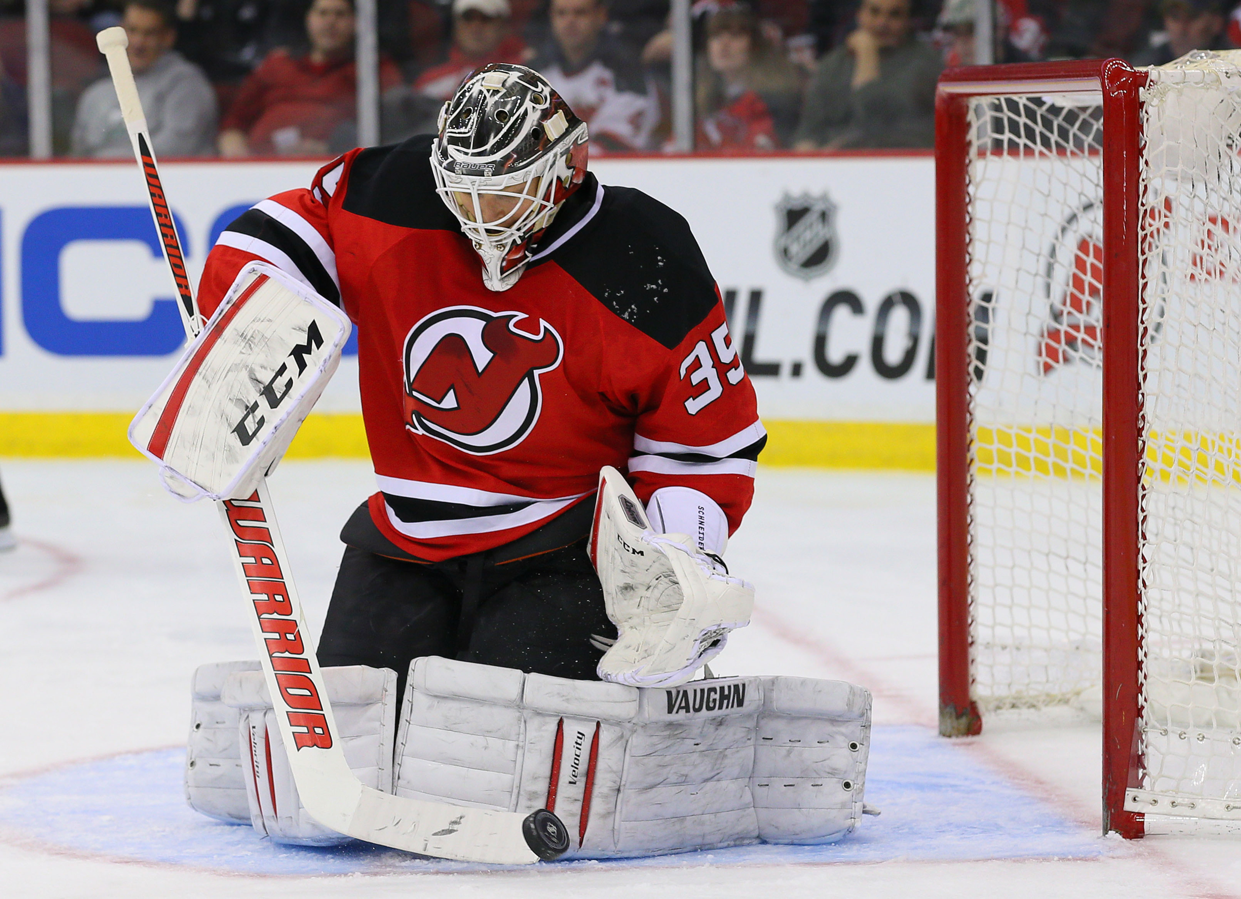 Hopefully we'll be seeing this a lot from Cory Schneider when the opposing team shoots this season.