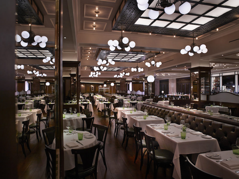 The dining room at DB Brasserie.