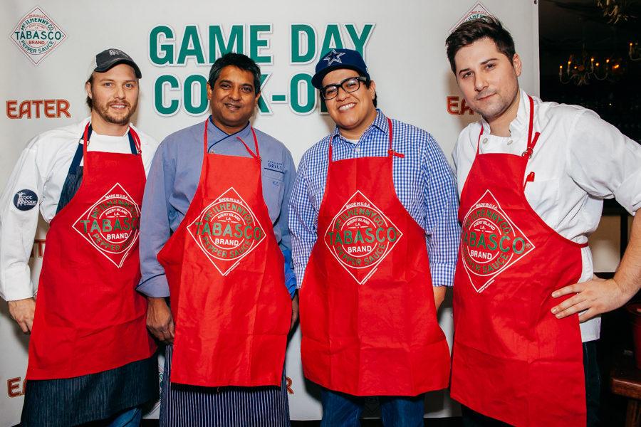 The chef competitors: Jeff McInnis, Floyd Cardoz, Michael Toscano and Nick Curtin