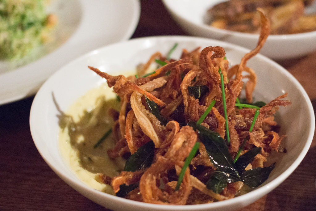 """<span class=""""credit"""">[Fried pig ears from 1 Knickerbocker by <a href=""""http://www.flickr.com/photos/scaredykat/11675520295/in/pool-eater/"""">goodiesfirst</a>.]</span>"""