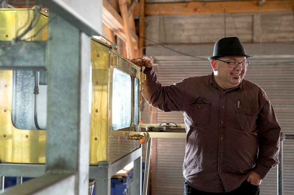 Arne Hillesland, a.k.a. the Ginerator, hand-crafts each batch of gin, producing about 2,800 gallons per month.