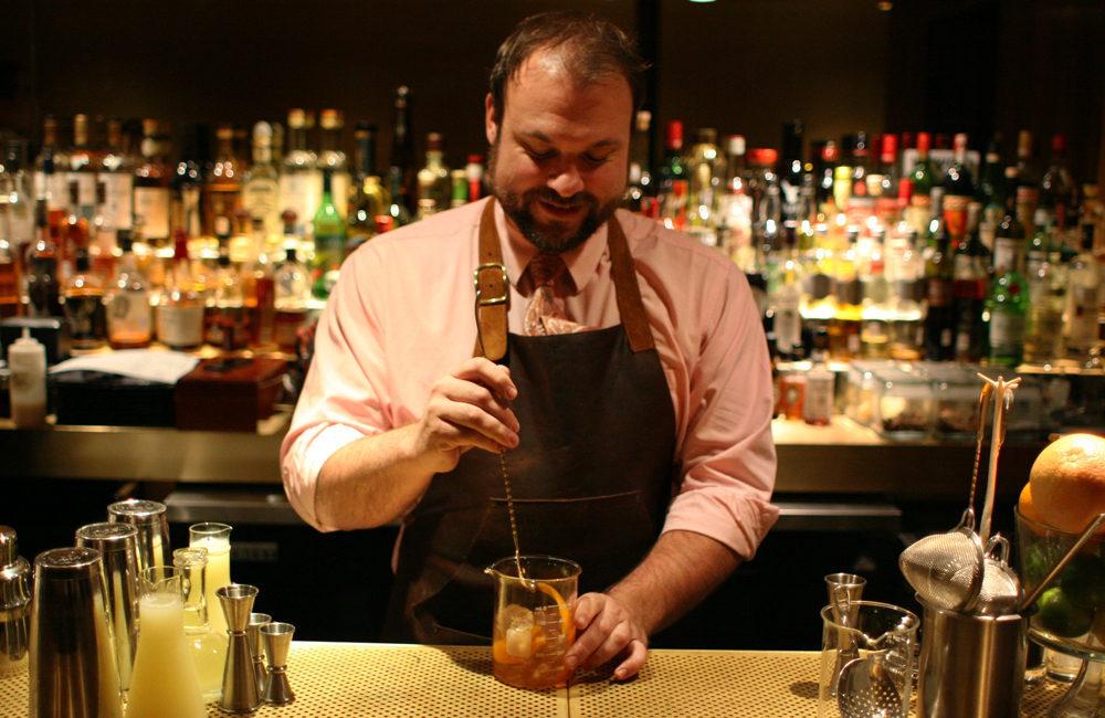 <em>Michael Martensen behind the bar at Smyth. [Photos: Garrett Hall/EDFW]</em>