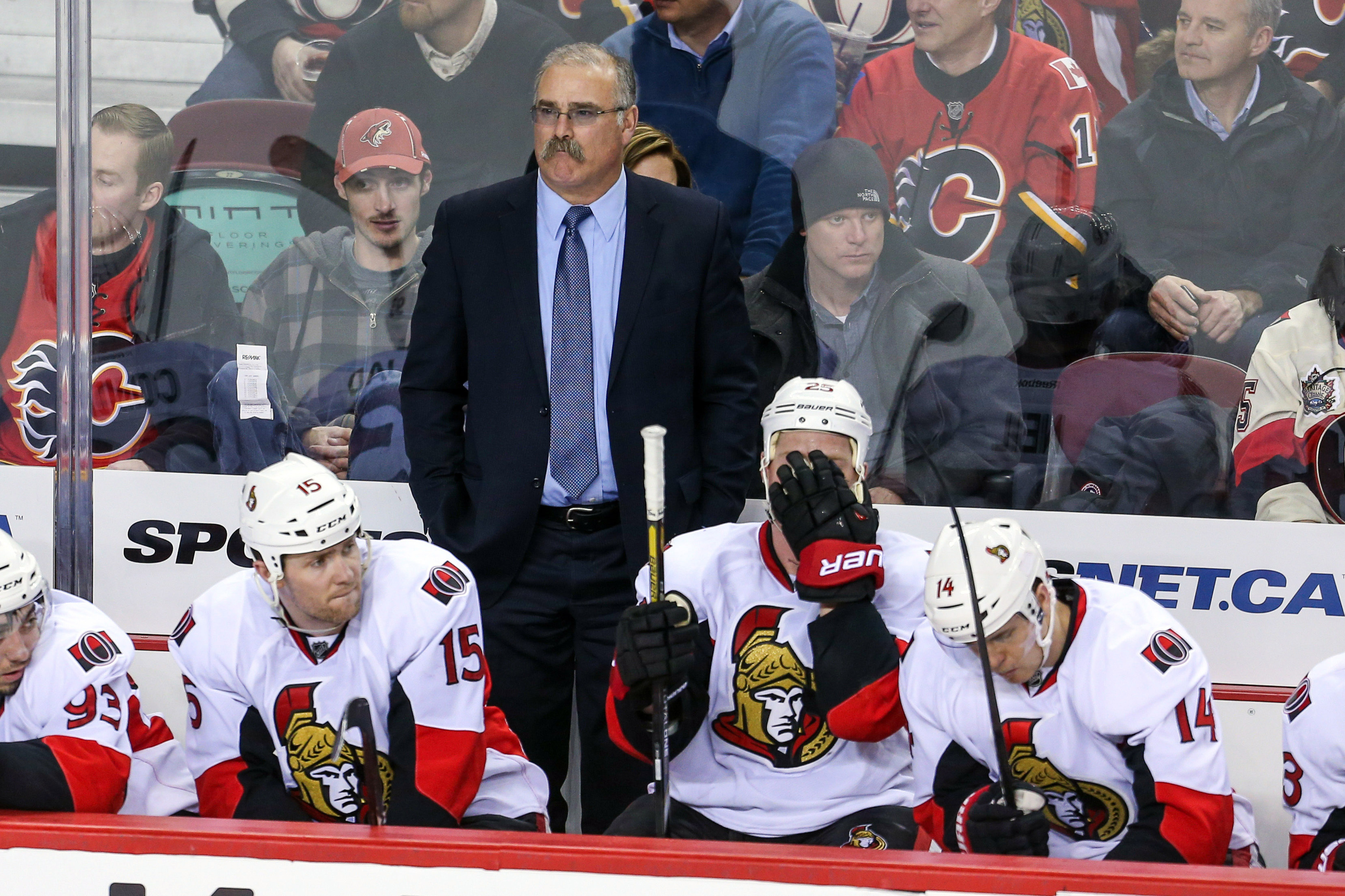 Coach Paul MacLean with some of his favourite players.