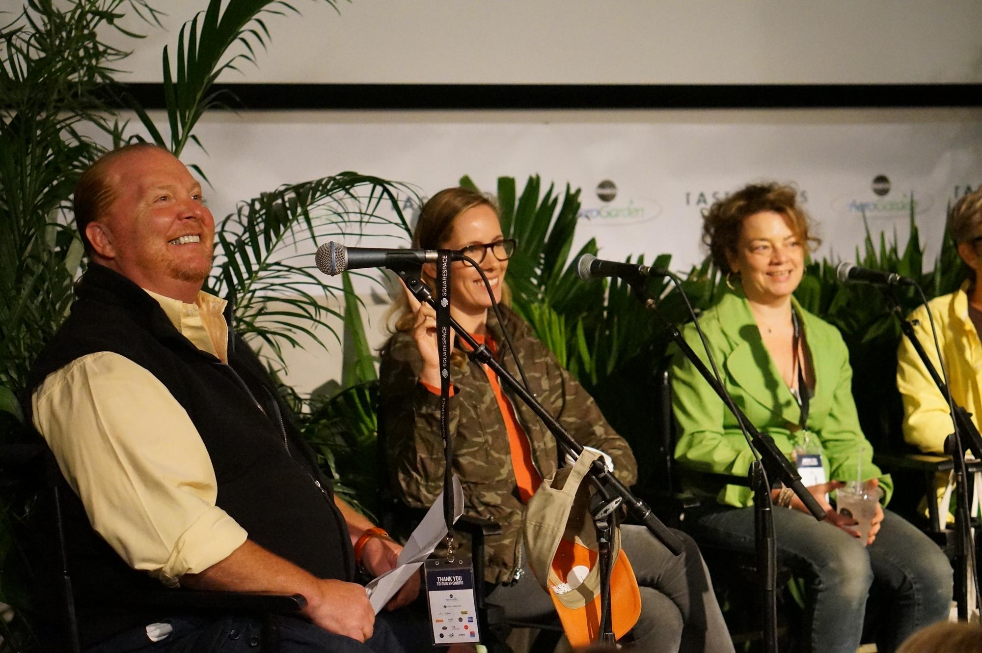 From left: Mario Batali, Christine Muhlke, Kate Krader