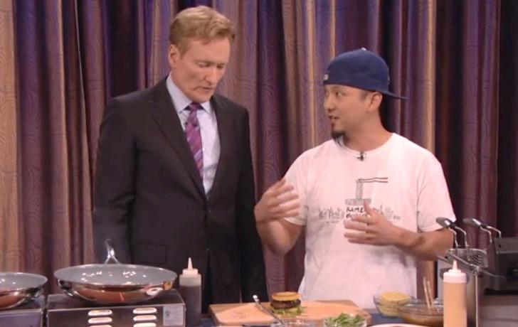 Watch Conan O'Brien Learn How to Make Ramen Burgers
