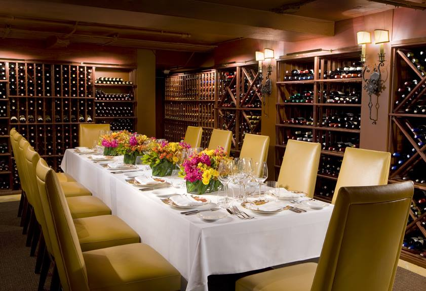The Mansion's wine room.