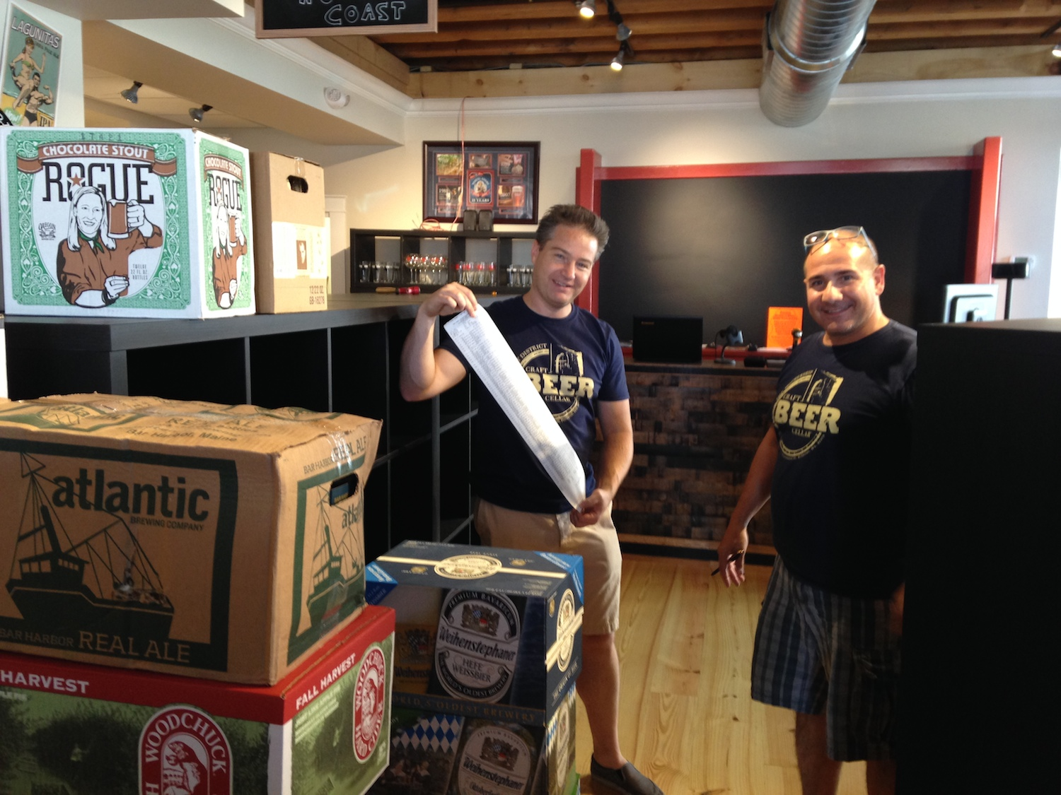 First shipment of beer at CBC Portland.