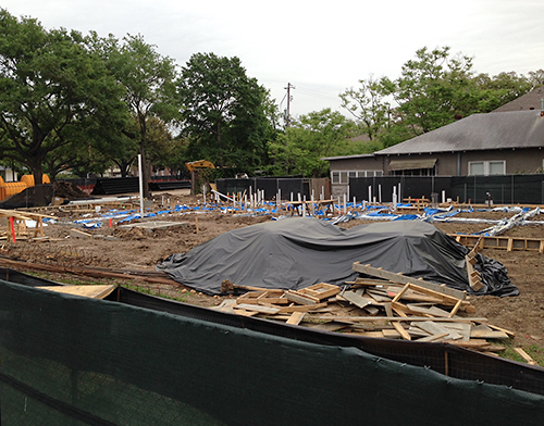 Pre-construction Bistro Menil.