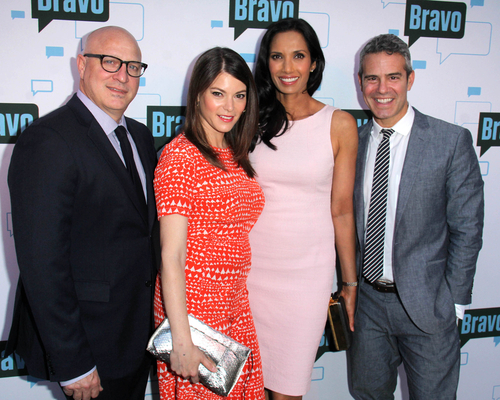 The Top Chef team. Padma Lakshmi is third from the left.