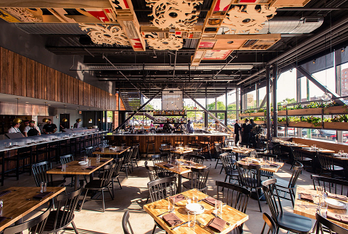 """Long-awaited Hyde Park eatery the <strong>Promontory</strong> is an """"ambitious"""" spot that's a welcome addition to the neighborhood, according to Lisa Arnett. An open fireplace in the kitchen offers """"hearth to table"""" cuisine with dishes like the Kent"""