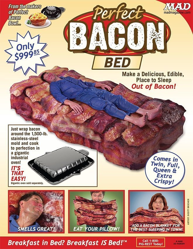 Even the Idea of This Bacon Bed Will Give You Nightmares
