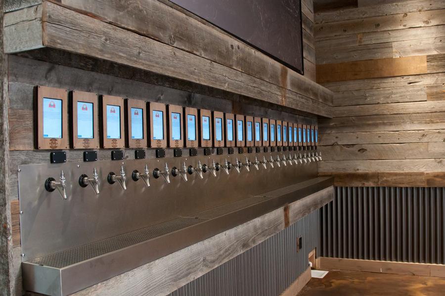 Beer wall at Barrel Republic San Diego.