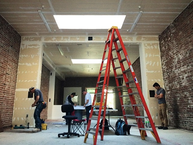 Construction underway on the LYC space.