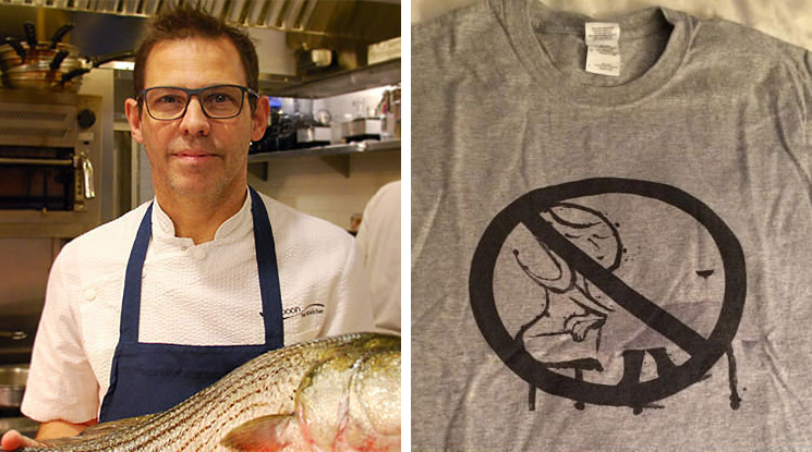 John Tesar and his anti-Leslie Brenner t-shirt