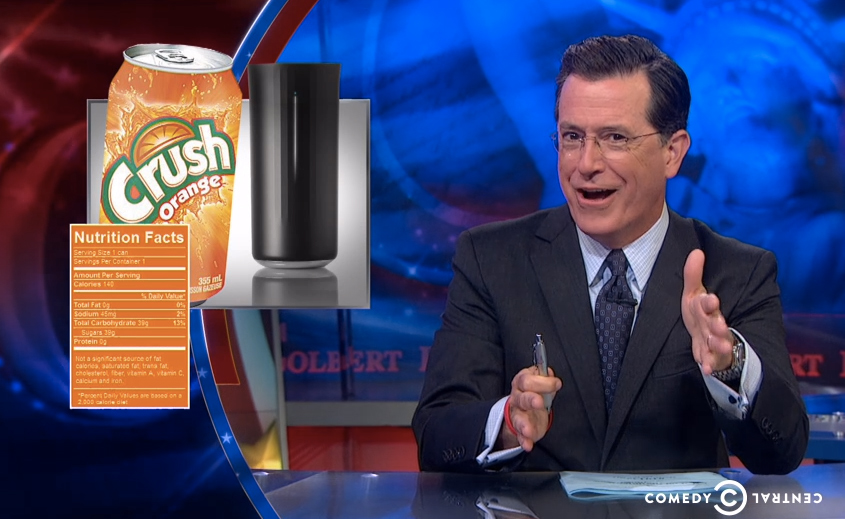 Watch Stephen Colbert Make Fun of Vessyl, a Digital Cup