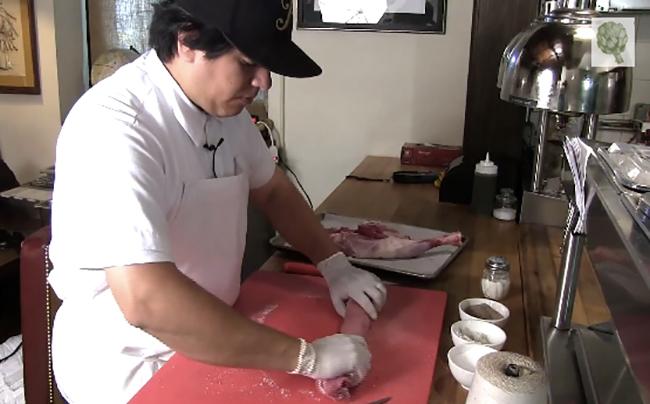 Watch Chef Michael Toscano Butcher a Whole Lamb