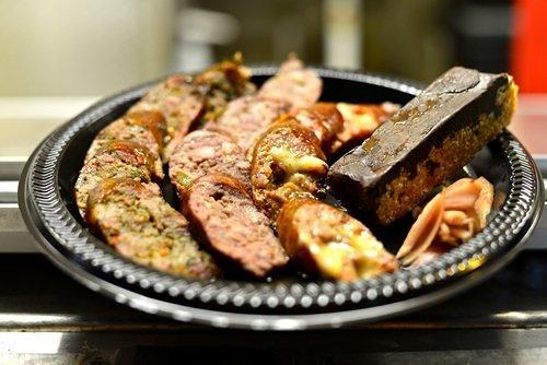 The dessert sausage plate at Goldis.