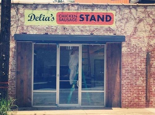 Delia's Chicken Sausage Stand.
