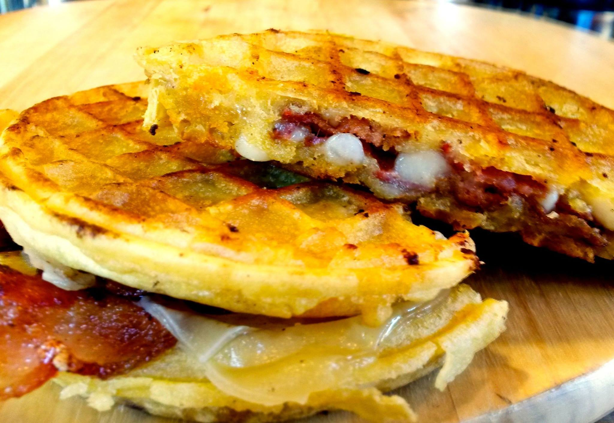 Behold the Eggo Monte Cristo Grilled Cheese at Philly's PYT