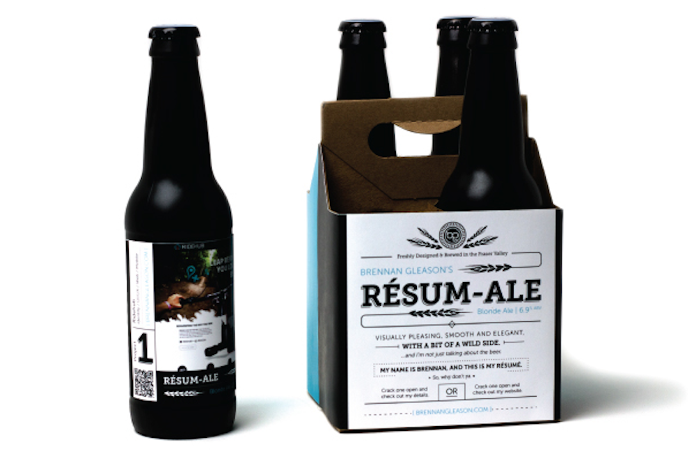Printing Your Resume on Beer Is a Smart Way to Get the Job