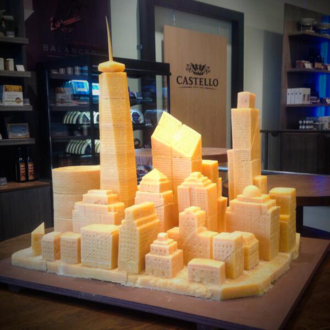 World Trade Center Made of Cheese Is a Symbol of American Ingenuity at its Finest