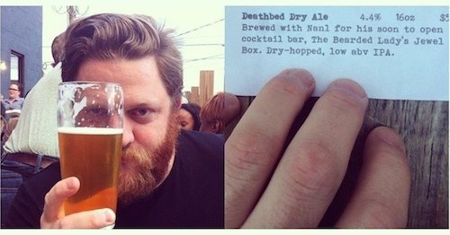 Nathaniel Meiklejohn with Deathbed Dry Ale at In'finiti.