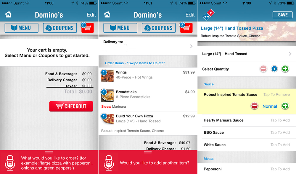 New Domino's App Uses Voice Recognition to Let You Order Pizza
