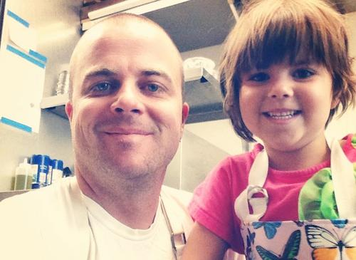 Basta chef Kelly Whitaker and his daughter