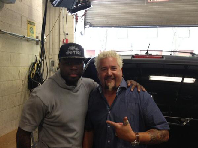 New Best Friends 50 Cent and Guy Fieri Will Conquer The World With Rap Music and Donkey Sauce