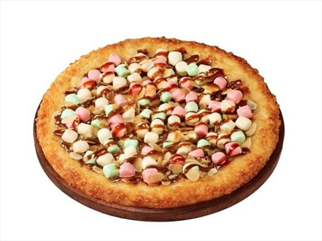 Introducing Pizza Hut Japan's Caramel and Marshmallow Pizza