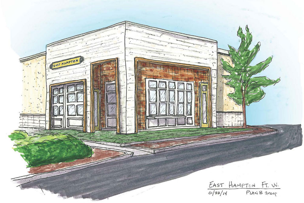A rendering of the future EHSC Fort Worth.